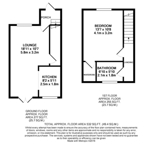 Floorplan for Horning Close, Mottingham