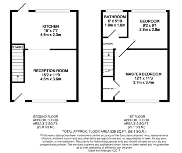 Floorplan for Beaconsfield Road, Mottingham