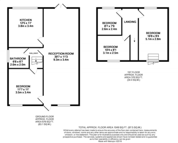 Floorplan for Beaconsfield Road, Mottingham, SE9 4DJ