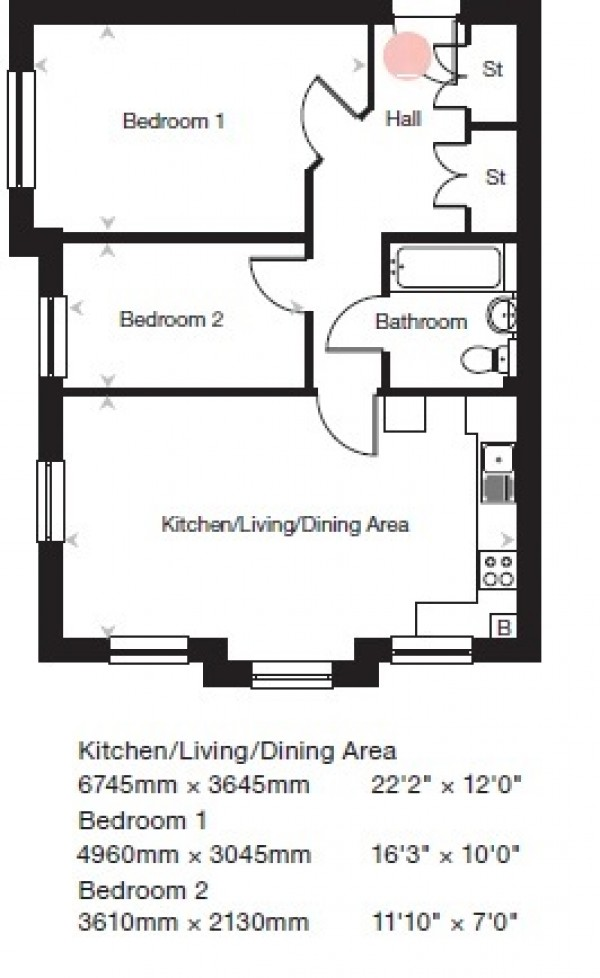 Floorplan for Oak Tree Gardens, New Eltham