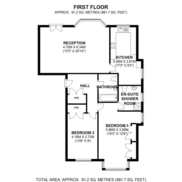 Floorplan for Eltham Palace Gardens, Court Road, SE9 5NS