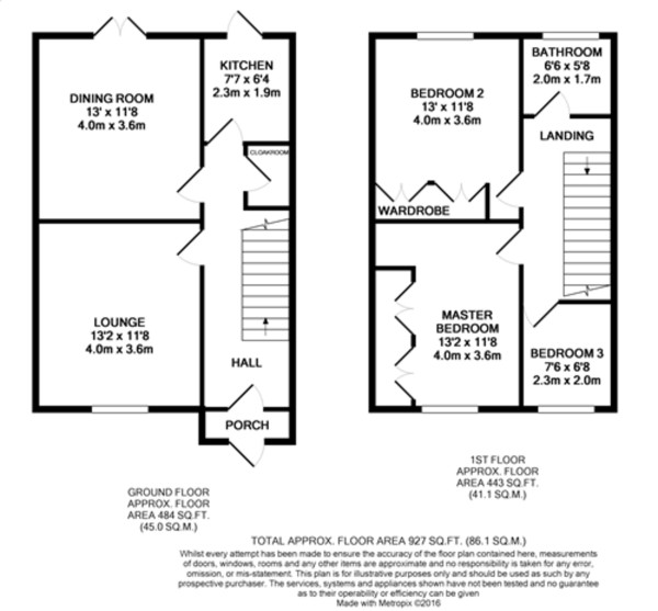 Floorplan for Clayhill Crescent, Mottingham