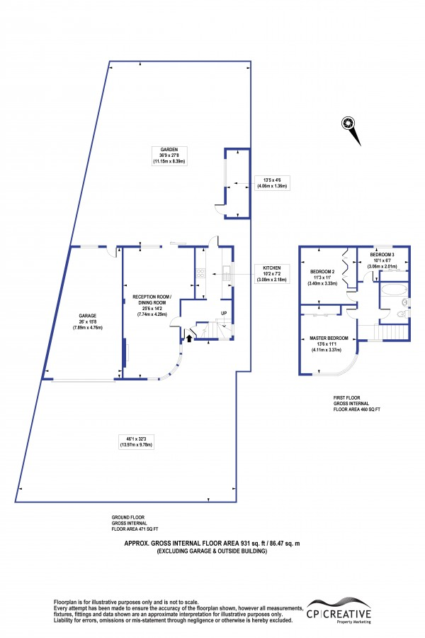 Floorplan for Sidcup Road, Mottingham