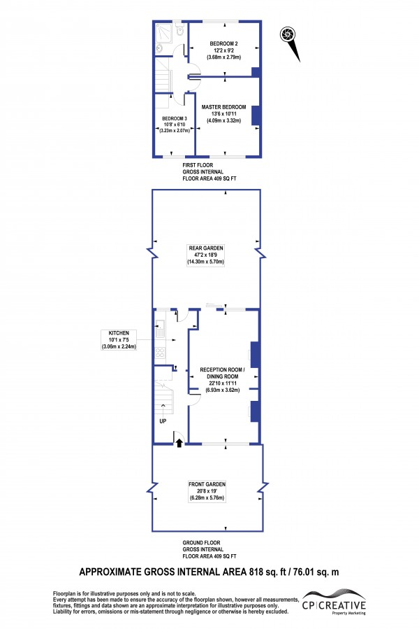 Floorplan for Framlingham Crescent, Mottingham