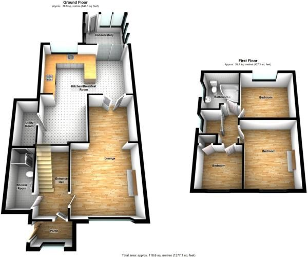 Floorplan for Badgers Croft, Eltham