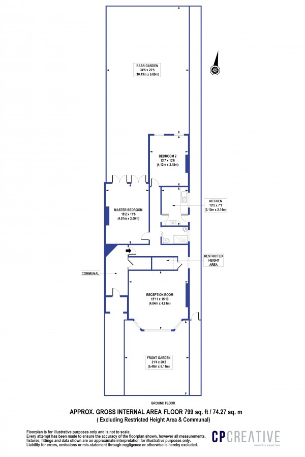 Floorplan for Bargery Road, Catford