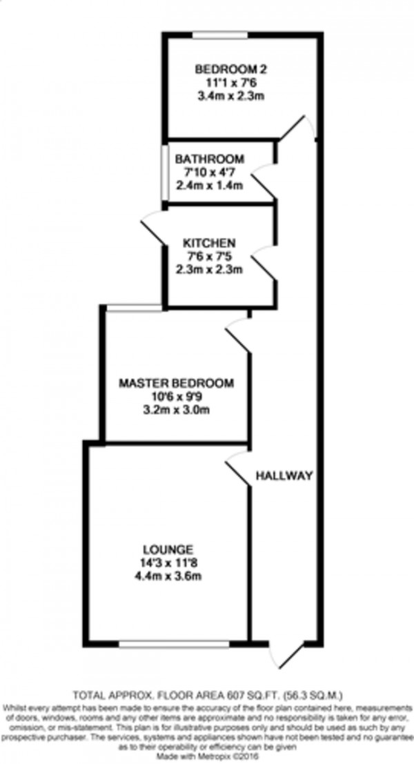 Floorplan for Marvels Lane, Grove Park