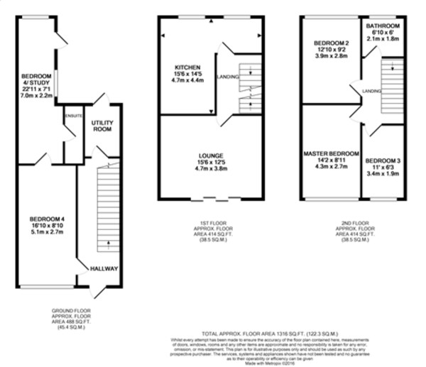 Floorplan for Broadheath Drive, Chislehurst