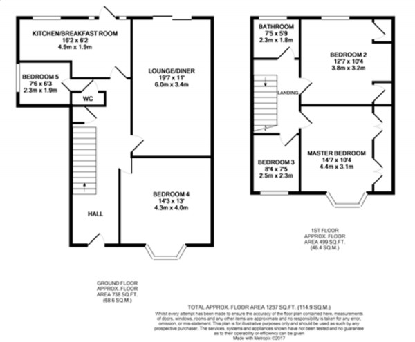 Floorplan for Mottingham Gardens, Mottingham
