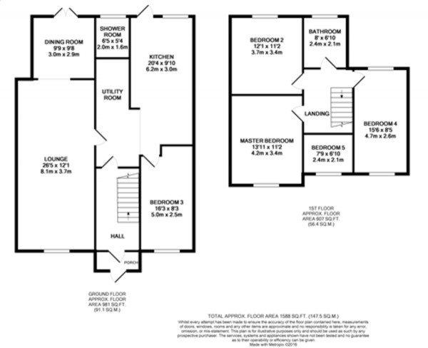 Floorplan for West Hallowes, Mottingham