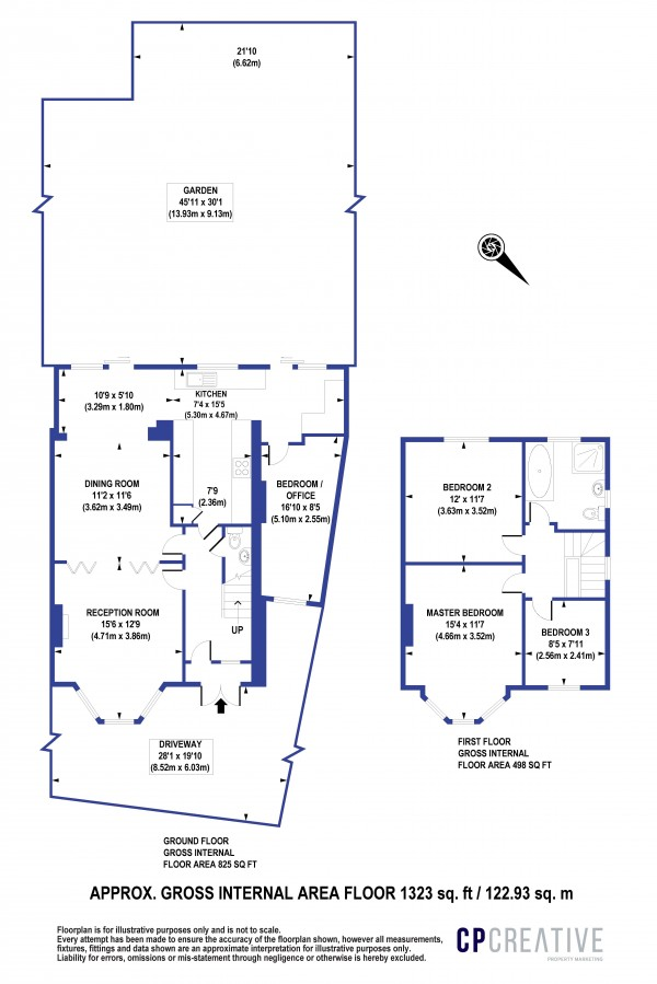 Floorplan for Agaton Road, New Eltham