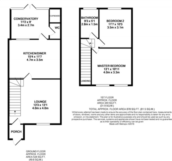 Floorplan for Reventlow Road, New Eltham