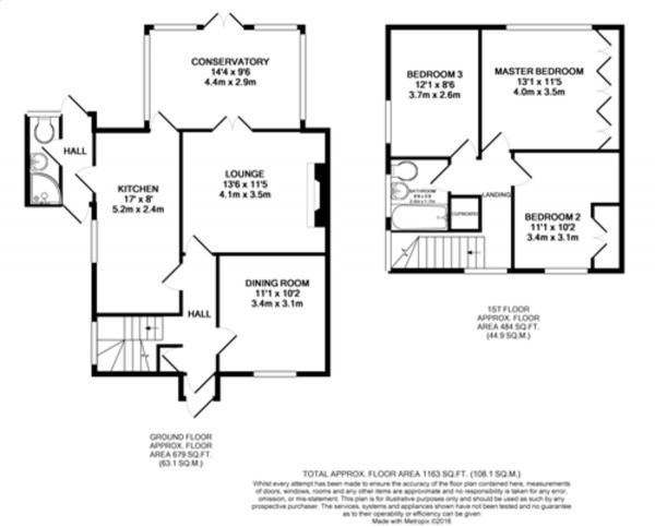 Floorplan for Eltham, London