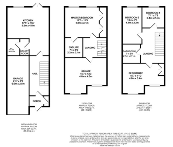 Floorplan for Woodcroft Close, New Eltham
