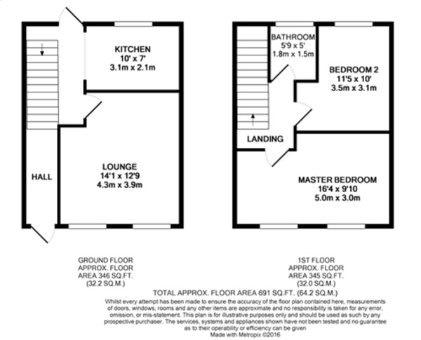 Floorplan for Escott Gardens, Mottingham