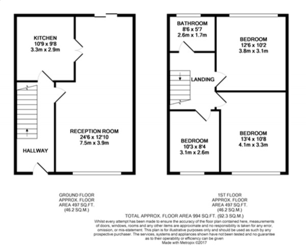 Floorplan for Slades Drive, Chislehurst