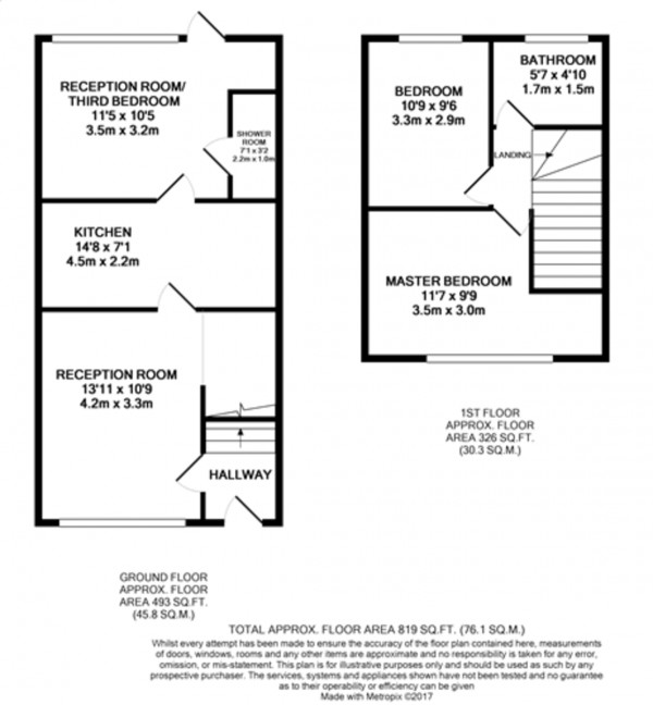 Floorplan for Meerbrook Road, Kidbrooke
