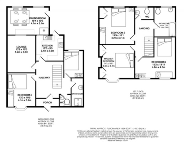 Floorplan for Braywood Road, Falconwood