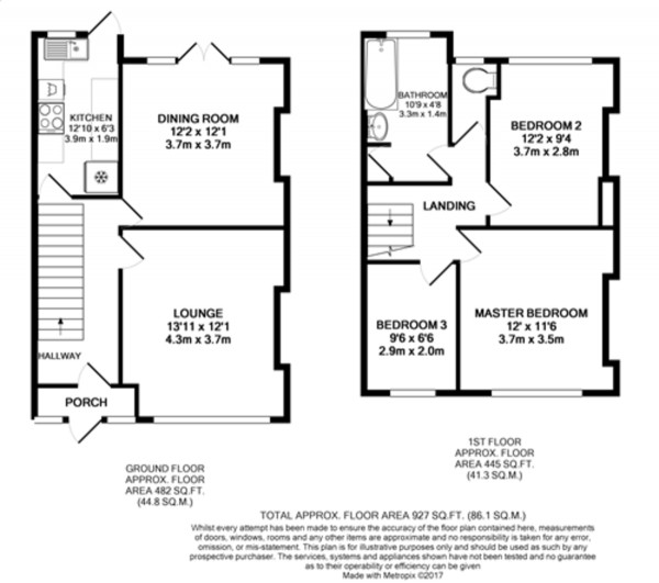 Floorplan for Bamford Road, Bromley