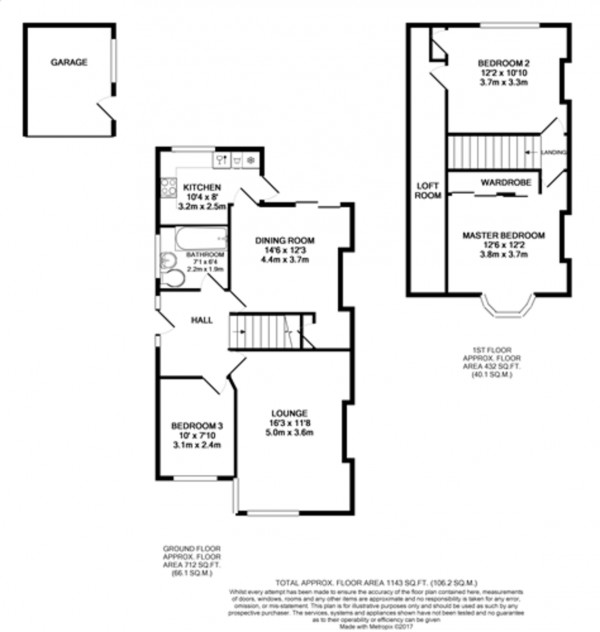 Floorplan for Exford Road, Lee