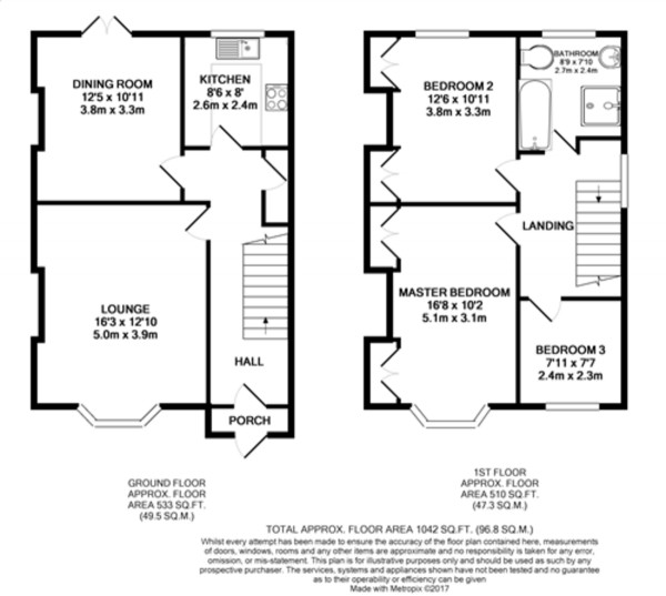 Floorplan for Southwood Road, New Eltham