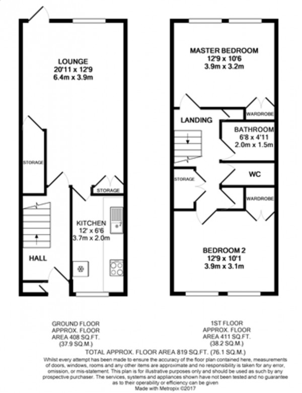 Floorplan for Henry Cooper Way, Mottingham