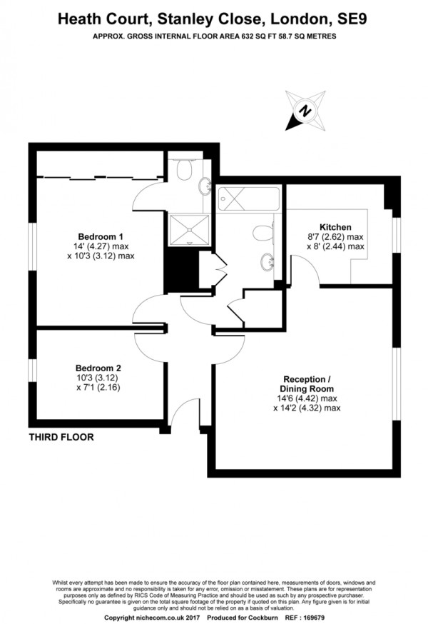 Floorplan for Stanley Close, New Eltham