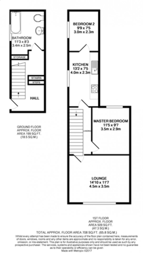 Floorplan for Crescent Road, Woolwich