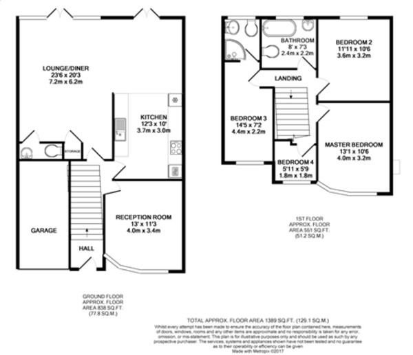 Floorplan for Brownspring Drive, New Eltham