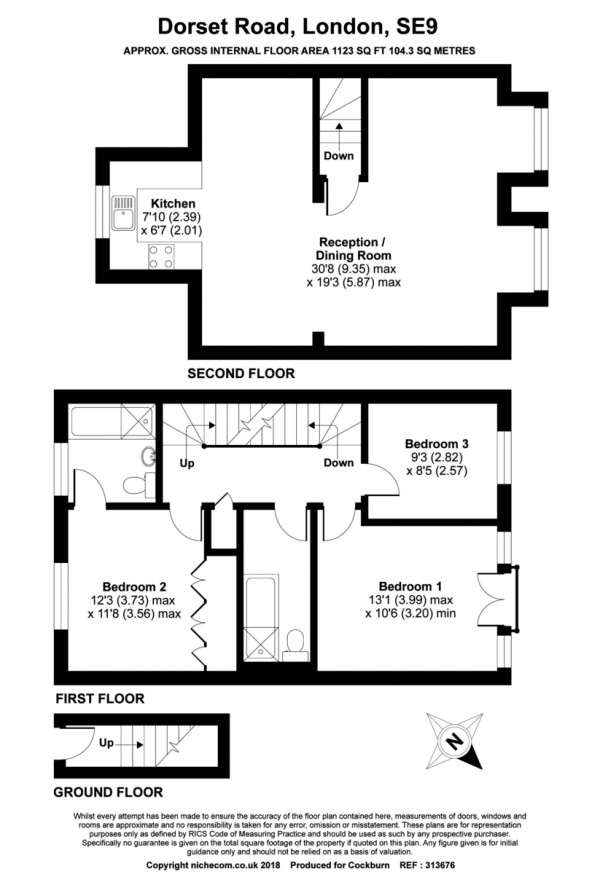 Floorplan for Dorset Road, London SE9
