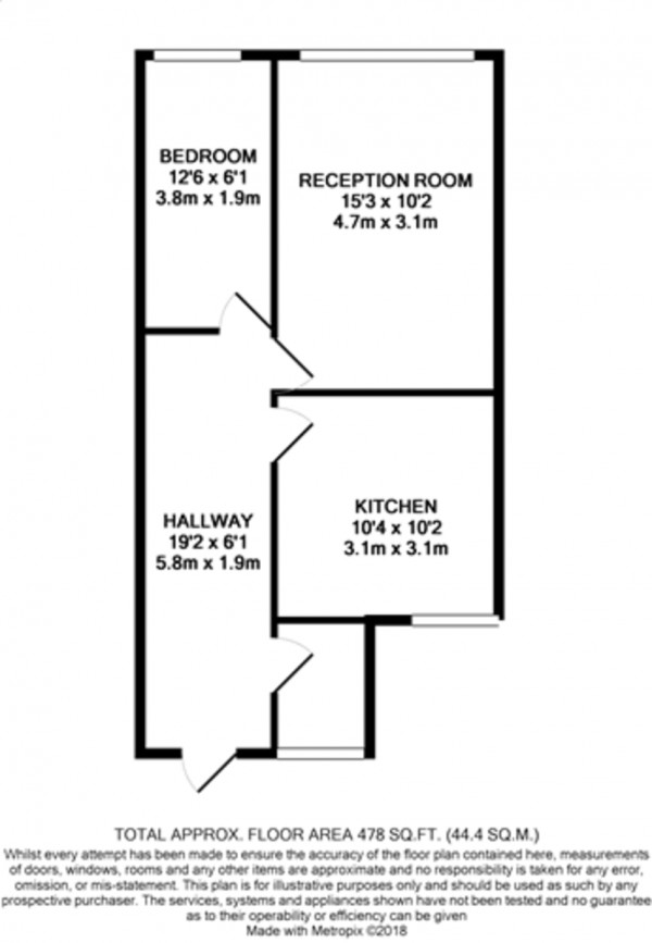 Floorplan for Beaconsfield Parade, London