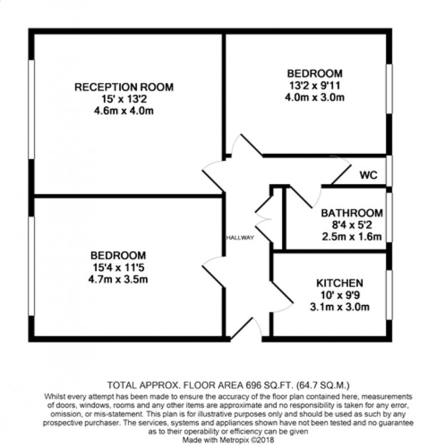 Floorplan for Elderslie Road, London