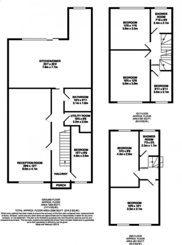 Floorplan for Court Farm Road, Mottingham