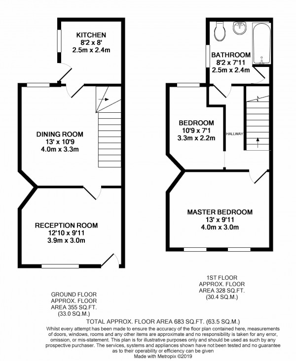 Floorplan for Green Lane, London