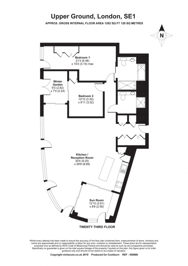 Floorplan for Upper Ground, London